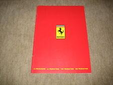 Ferrari die Produktion die Modelle Prospekt Brochure Heft von 3/1983, 24 Seiten
