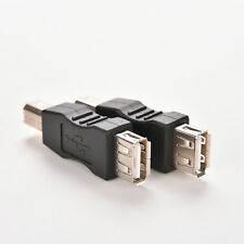 Double USB Type A Female to USB Type B Male Adapter Conector printer HU