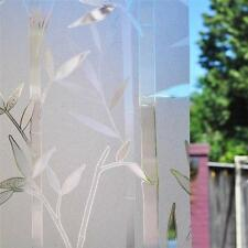 Reusable Frosted Window Glass Film Removable Bamboo Static Reapply 90cm x 1m