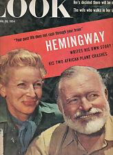 "HEMINGWAY IN LOOK MAGAZINE-""THE CHRISTMAS GIFT""-9 PAGES OF TEXT & GREAT PHOTOS"
