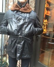 1930s-1940s King O North Horsehide Barnstormer Coat, Sheepskin Collar and Lining