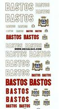 decals decalcomanie logo pour bastos  divers  1/43
