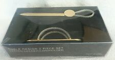 Cable Design Letter Opener and Card Holder Set  Metal Wire Cable in Box