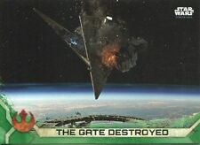 Star Wars Rogue One Series 2 Green Base Card #95 The Gate Destroyed