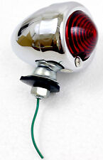 Superior Dixie Distributing 12V Chrome Bullet Style Red Marker Light Motorcycle
