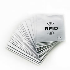 25/pack RFID Blocking Sleeves Credit Card Protector & Passport Identity Card