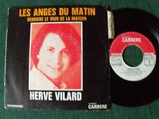"""HERVE VILARD: Les anges du matin / Derrière le mur - 7"""" 45T 1970 CARRERE 6061128"""