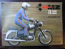 BROCHURE CATALOGUE  MOTO MZ 1980  TS 125 / 150