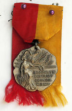 1908 STERLING MEDAL BROOKLYN NY DISTRICT SPANISH WAR VETS AUX EVENT DIEGES CLUST
