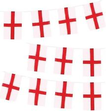 England St George Bunting 11 Flags Length 11ft Flag 21x15cm World Cup 1st Class