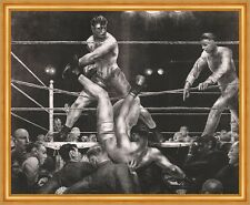 Dempsey and Firpo George Wesley Bellows Boxen Sport Ring Kampf Männer B A2 02053