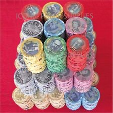 CURRENCY 10g CERAMIC 500pce POKER CHIP SET CUSTOM MADE