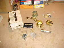"""NEW""  MEDECO #11W0100 SINGLE CYLINDER DEADBOLT BRASS  KEYS DUPLICATION CARD"