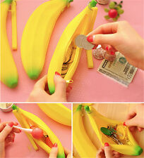 Coin Purse Pencil Case Portable Cute Banana Silicone Pen Bag Wallet pouch