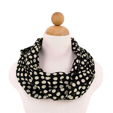 Premium Viscose Polka Dot Infinity Loop Fashion Scarf - Diff Colors Avail