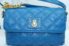 Marc Jacobs The Single Blue Quilted Crossbody Shoulder Bag Handbag Leather NWT