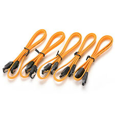 5Pcs 40cm Serial ATA SATA 3 RAID Data HDD Hard Drive Disk Signal Cables Yellow .