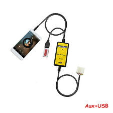 Car 3.5mm CD MP3 Player USB Interface Adapter AUX In Input For Honda 2.4
