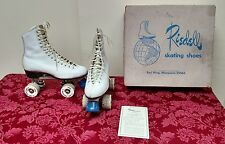 Vintage Riedell Red Wing Skating Shoes Women's White Leather Size 6 1/2  ✞
