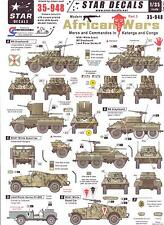 Star Decals 1/35 MODERN AFRICAN WARS Part 3 Mercs & Commandos in Katanga & Congo