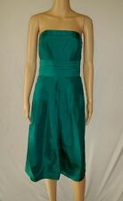 Women's Strapless Silk Turquoise Dress- Ann Taylor- Size 8