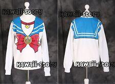 T-502 blau Sailor Moon Usagi Bunny Sweatshirt Pullover Cosplay Japan Harajuku