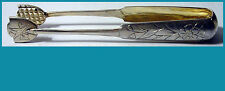 """RUSSIAN 84 silver 5"""" ICE / SUGAR TONGS KIEV end of 19c no mono GOLD WASHED"""