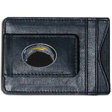 San Diego Chargers Fine Leather Money Clip Wallet (NEW) NFL Mens Billfold