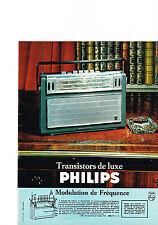 PUBLICITE ADVERTISING  1964   PHILIPS    transistor de luxe FM