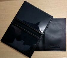 Cashmeer Soft Black Credit Card Travel Pass Oyster ID Holder Genuine Leather