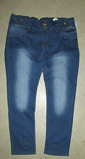 VIP DENIM Tummy Tuck Medium Wash Elastic Waist 'Jean Look' Pants Tight Fit