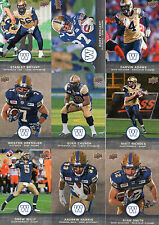 2016 Upper Deck CFL Football Winnipeg Blue Bombers Offensive Team Set (10)