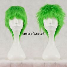 Breve Layered SOFFICI spikeable Cosplay Parrucca in Verde Lime, UK Venditore, Jack stile