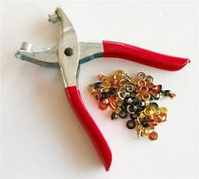 "3/16"" EYELET / GROMMET PLIERS  with 100 Multi Color Eyelets ** Free Shipping **"