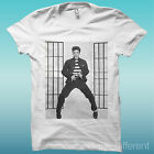 """T-SHIRT """" ELVIS PRESLEY """" WHITE THE HAPPINESS IS HAVE MY T-SHIRT NEW"""
