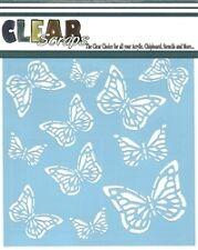 """Clear Scraps 6"""" stencil """"Monarch Butterfly"""""""
