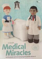 KNITTING PATTERN Alan Dart Medical Miracles Doctor & Nurse Toy Uniform PATTERN