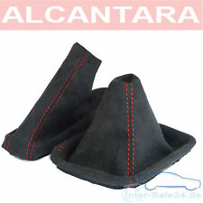 Arranque Shift+ Manguito Freno De Mano Ideal BMW E46 De ALCANTARA Costura Roja