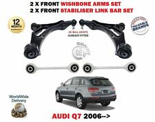 FOR AUDI Q7 2006-  FRONT 2X WISHBONE ARMS 2x STABILISER LINK BARS SUSPENSION KIT