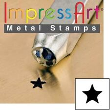 Metal stamp, punch, solid star, 3mm