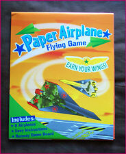 PAPER AIRPLANE FLYING GAME PACK - Make 8 Planes, with Runway & Instructions  NEW