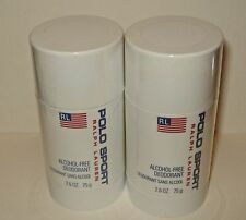 2 Ralph Lauren  POLO SPORT  Deodorant Stick Alcohol Free New Sealed
