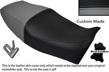 BLACK & GREY CUSTOM FITS YAMAHA XJ 600 S DIVERSION 91-04 LEATHER DUAL SEAT COVER