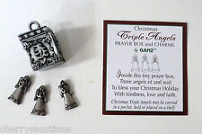 q TRIPLE CHRISTMAS ANGELS angel BOX CHARM Prayer box triplet blessing love ganz