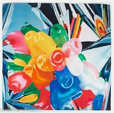JEFF KOONS 'Tulips', 1995-98 Artist's 100% Silk Twill Scarf Made in France *NEW*
