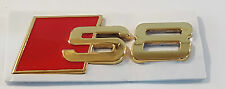 24ct GOLD PLATED AUDI S8 REAR SIDE BOOT BADGE 24K