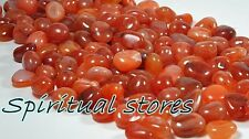 Carnelian Agate tumbles - 100 Grams- helps you to feel in control of life - Heal