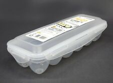 Airtight Locking Lid 12-Holder Egg Storage Container Keeper Holder Bin