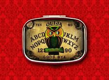 OUIJA BOARD OWL PSYCHIC GAME VINTAGE HALLOWEEN 3 STASH BOX METAL PILL MINT CASE
