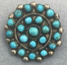 Vintage Pawn Zuni Sterling Silver Turquoise Petite Point Pin